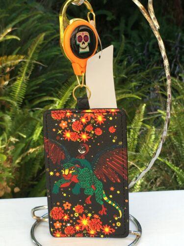Loungefly Disney Pixar Coco Alebrije Card/ID Holder w/Retractable Lanyard Clip