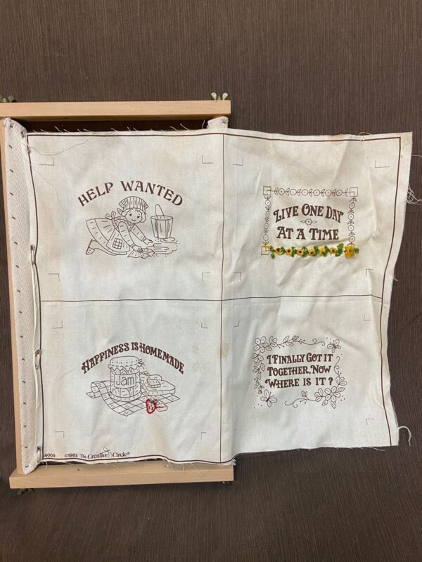 1982 The Creative Circle Needle Point Stretch Frame 4 Pictures