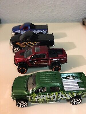 Hot Wheels Ford F-150 Lot 4 Loose. Raptor & Crew Cab