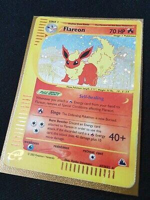 Flareon H7/H32 Holo Rare, WOTC Skyridge e-Series e-Reader, Pokemon Card, MP/HP