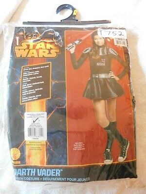 Star Wars Darth Vader Tween Sm/Med Girls Costume Complete Outfit New Dress-up