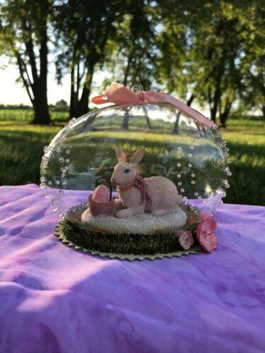 Eater decor bunny rabbit glass ornament