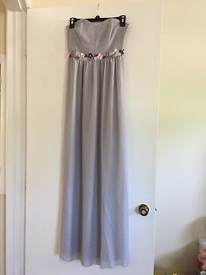 Dress Up Dress Shop (NWT  LAUREN CONRAD Dress Up Shop Gray Embellished Evening Dress Size)