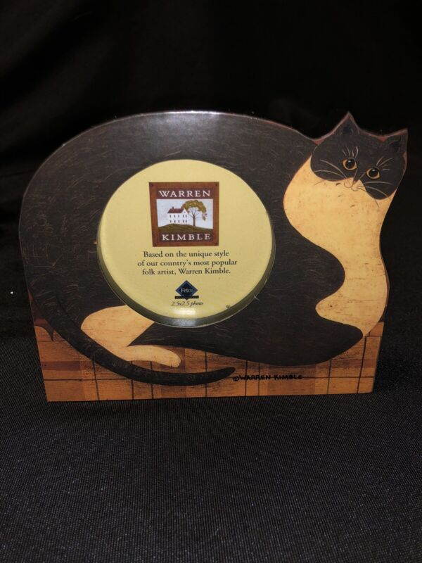 Warren Kimble Fat Yellow Cat - Cliff -  PICTURE FRAME By FETCO