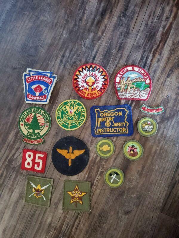 Large Lot 1960s Vintage Boy Scout Patches portland oregon