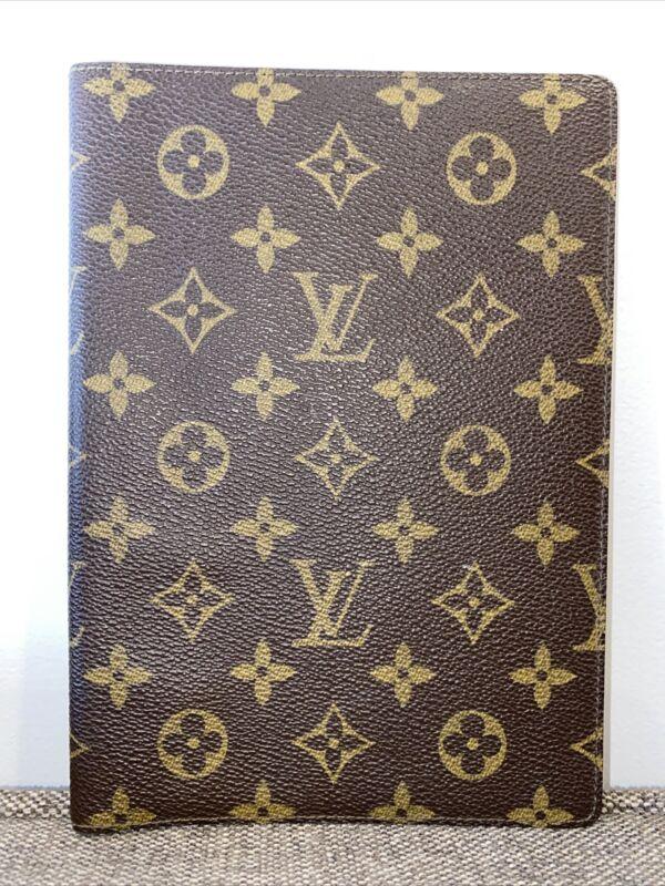 Louis Vuitton Monogram Agenda Address Book 872A2 Feb 1987 VTG AUTHENTIC 6 x 8.25