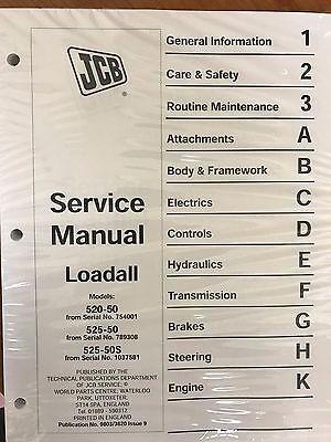 Jcb Loadall 520-50 525-50 525s Loader Service Repair Workshop Manual