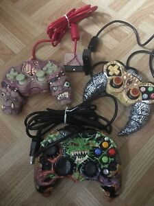 3 Rare horror gaming controllers ( PS2 &a Xbox)