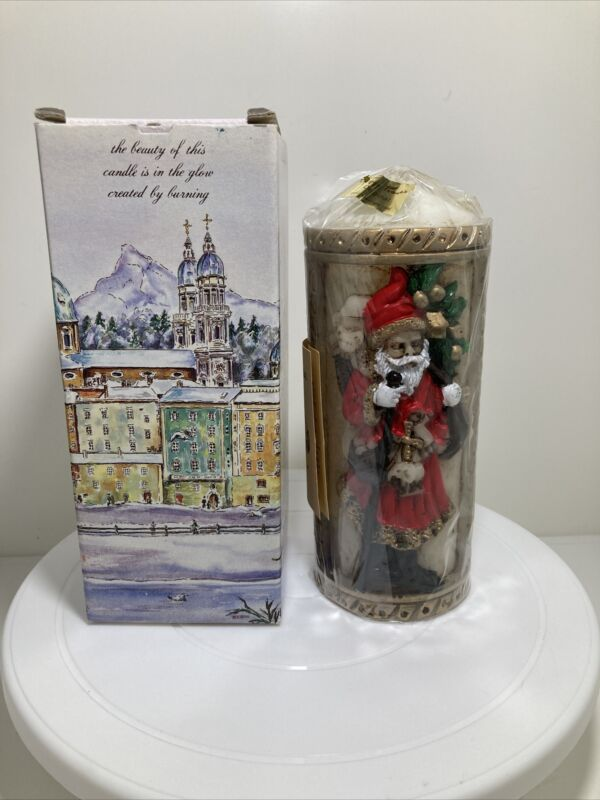 1986 Emperor Art Creation Santa Claus #555 Sculpted/Carved Pillar Candle **NEW**
