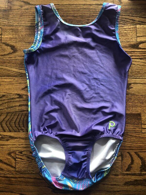 Plum Leotard Purple Front Multicolored Back - Adult Medium