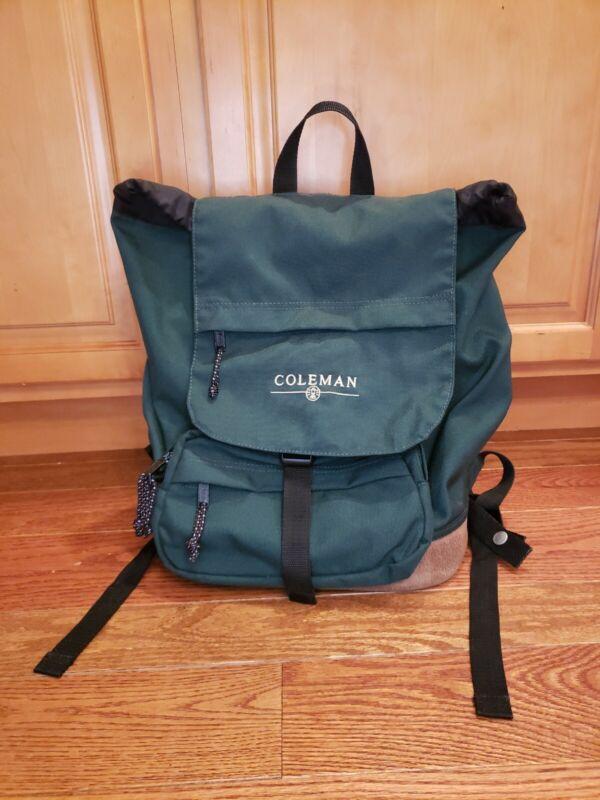 Vintage Coleman Hiking Camping Backpack Bag Hunter Green
