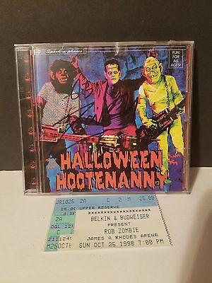 Rob Zombie Auto CD w/Ticket Stub Halloween Hootenanny - Rob Zombie Halloween Music
