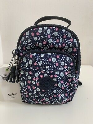 NWT Kipling Alber Convertible Mini Backpack Floral Rush