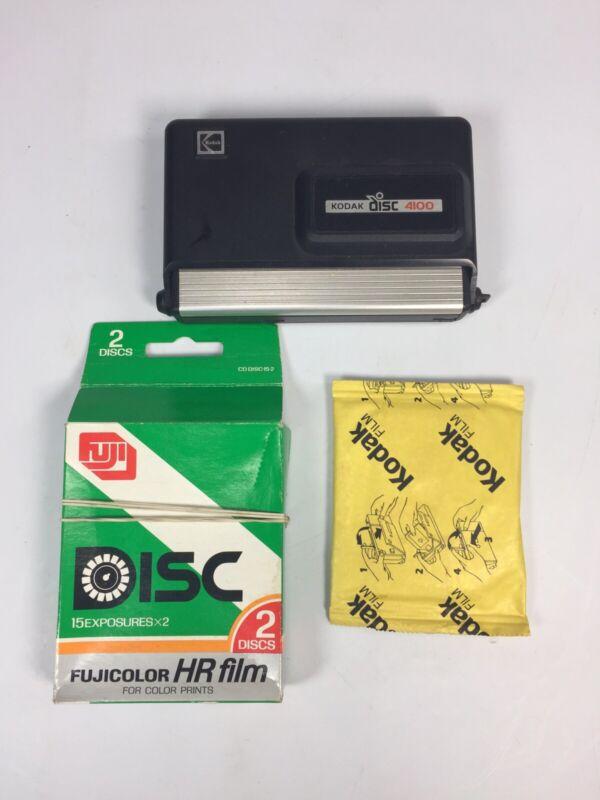 Kodak DISC 4100 Instamatic Camera and 3 NOS Sealed Blank Film Discs (Kodak Fuji)