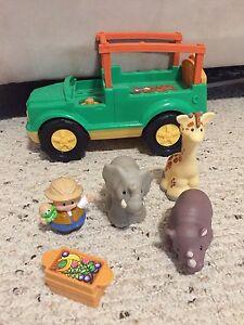 Fisher Price Safari truck and animals
