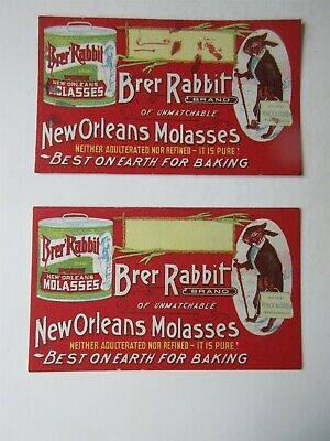 vintage lot of 2 - Brer Rabbit New Orleans Molasses Ink Blotter Card
