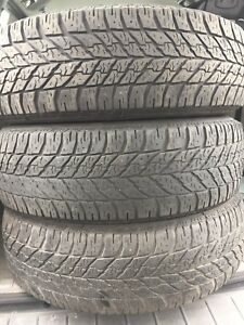 3-225/65R17 Good Year winter tires