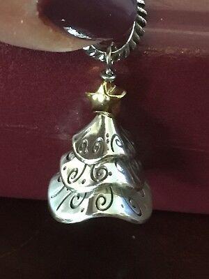 Christmas Tree Star Charm - NWOT Brighton TINSEL TREE Charm Silver with Gold Star-Christmas