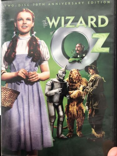 The Wizard Of Oz DVD, 1939 2 Disc 70th Anniversary Edition - $3.00