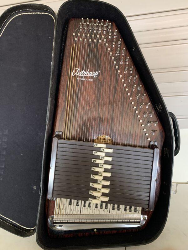 Vintage Autoharp Oscar Schmidt 15 chord 36 String Model 15 EBH/R Instrument harp