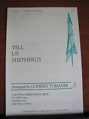 Keyboard Oboe (Tell Us Shepherds - sheet music- SAB Vocal Keyboard Flute Oboe for Christmas )