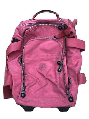 Kipling Cabin Suitcase - PINK and With Dennis The Monkey