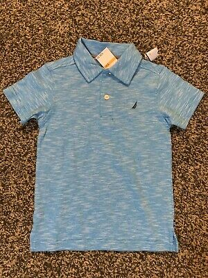 Nautica Boys Size 4 Collared T-Shirt Blue New