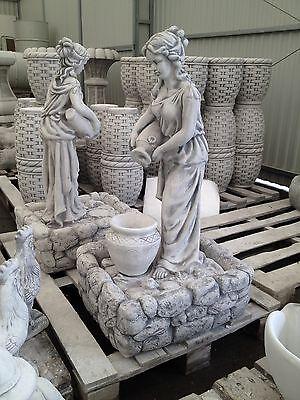 BRUNNEN Steinfigur mit Wasserspiel + Pumpe Springbrunnen Garten BLACKFORM
