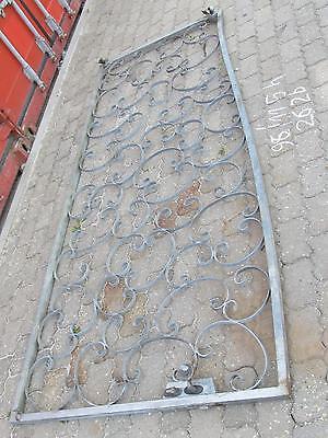 verzinkte schmiedeeisenes Gitter Gartentür Hoftor ca. 262 cm breit 115 cm hoch