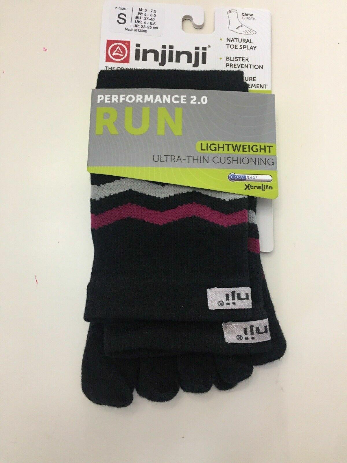 Injinji Run Toe Crew Socks Performance 2.0 Lightweight Weigh