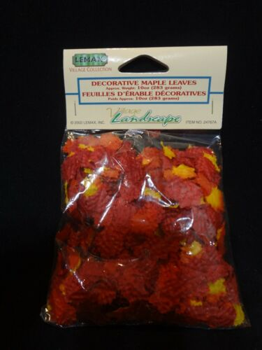 Lemax 2002 VILLAGE LANDSCAPE LOOSE MAPLE LEAVES 24767A New In Pkg Fall Autumn