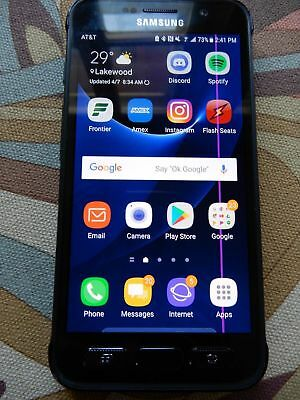 Samsung Galaxy S7 Active 32GB SM-G891A Unlocked GSM AT&T 4G LTE LINE on Screen