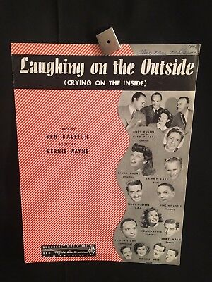 1946 Laughing On The Outside Crying On The Inside Sheet Music Book Bernie
