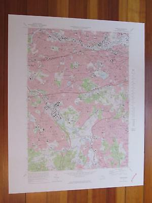 Newton Massachusetts 1978 Original Vintage USGS Topo Map