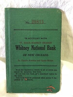 Antique Whitney National Bank of New Orleans deposit book  #2855B (Whitney Bank)