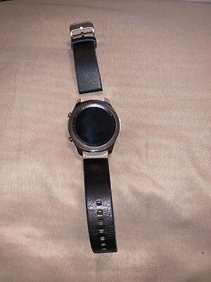 Samsung Galaxy Gear S3 classic Black Classic 46mm Stainless Steel Case Silver... for sale  Shipping to Canada