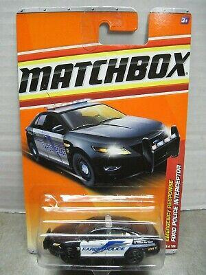 Matchbox Emergency Response Fargo ND Ford Police Interceptor Patrol