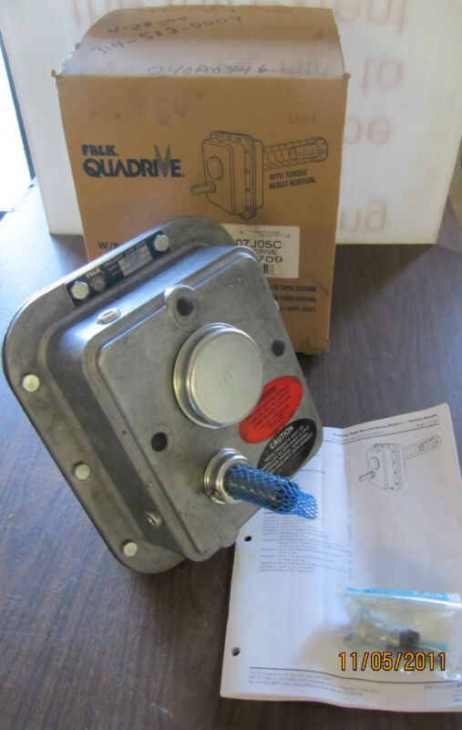 FALK QUADRIVE 4107J 05 7/8 ENCLOSED GEAR DRIVE GEARBOX SPEED REDUCER 5.077:1 NIB