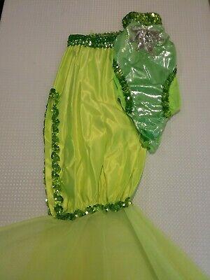 Girls Youth Child Art Stone Green Sparkly Mermaid Costume Dance Halloween M - Stone Dance Kostüm