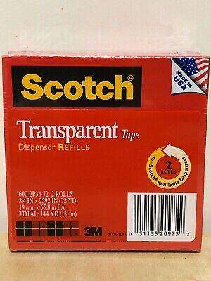 Scotch Transparent Tape Dispenser Refills 2-pk