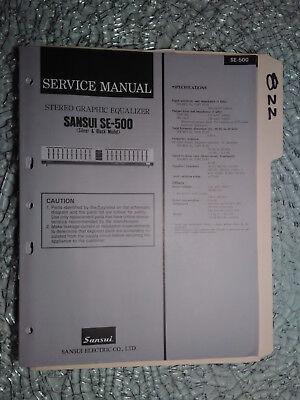 Original Yamaha Service Manual for the EQ-500 U EQ-32 Graphic Equalizer Repair