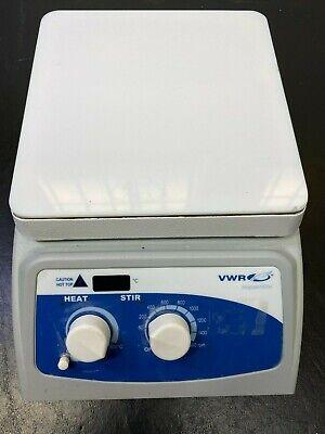 220v Vwr 720 Advanced 12365-494 7 X 7 Glass Top Hot Plate Magnetic Stirrer