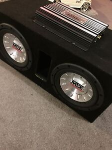 ^** MTX SUBWOOFER IN PORTED BOX WITH KENWOOD AMP!