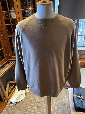 BRUNELLO CUCINELLI Mens Cashmere Blend Sweater Size 58/3XL Mint