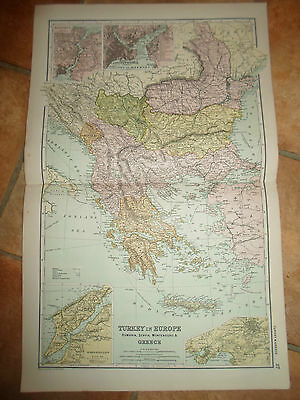 Old Map - TURKEY & GREECE From Bacon's Popular Atlas Of The World - 1907 (No 27)