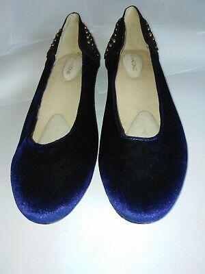 Kat Maconie Size 7 Blue Velvet slip on shoes