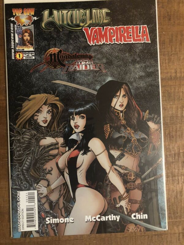 Tomb Raider Witchblade Magdalena Vampirella #1 Art Adams Variant Cover