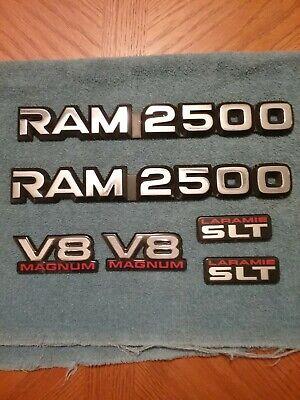 1994 - 2001 Dodge Ram 2500 TRUCK EMBLEM SET- 6 pieces. Pickup 3/4 ton. FREE SHIP