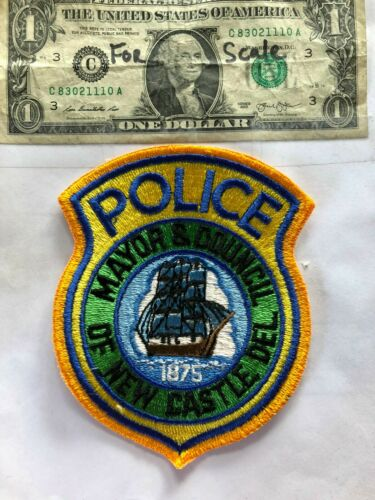 Rare New Castle Delaware Police Patch (Mayor & Council) Un-sewn in great shape