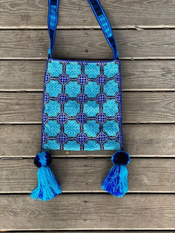 Mexican Huichol Medicine Bag Morral Embroidered Bag
